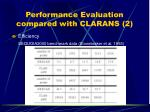 performance evaluation compared with clarans 2