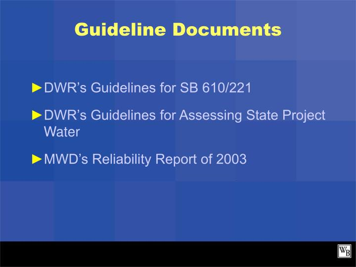 Guideline Documents