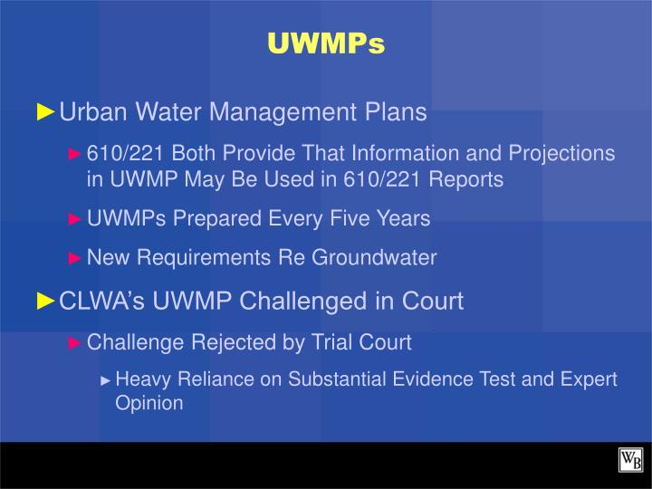 UWMPs
