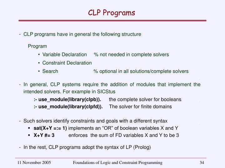 CLP Programs