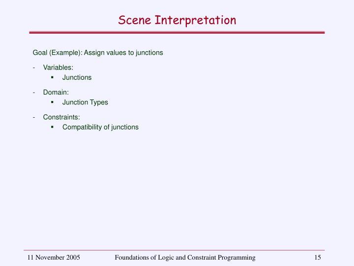 Scene Interpretation