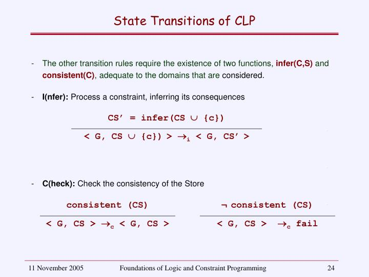 CS' = infer(CS  {c})