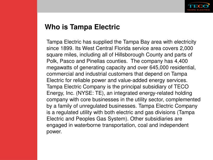 Who is Tampa Electric