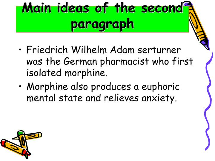 Main ideas of the second paragraph