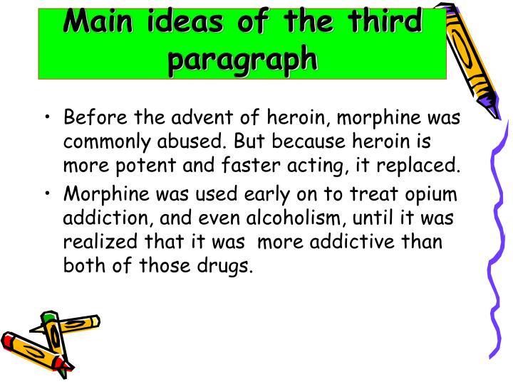 Main ideas of the third paragraph