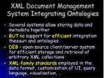 xml document management system integrating ontologies
