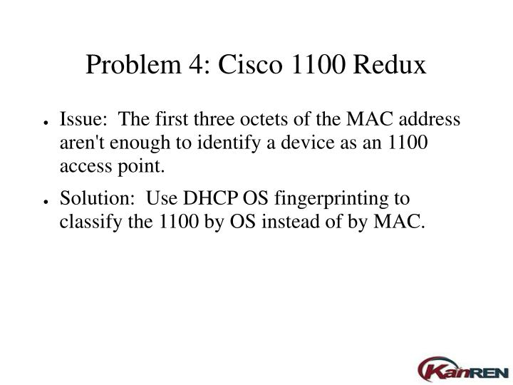 Problem 4: Cisco 1100 Redux