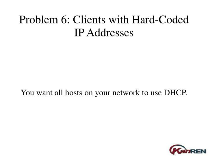 Problem 6: Clients with Hard-Coded IP Addresses