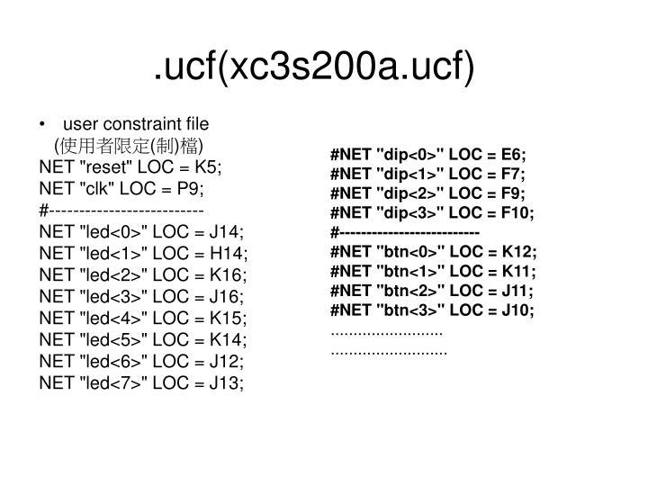 .ucf(xc3s200a.ucf)