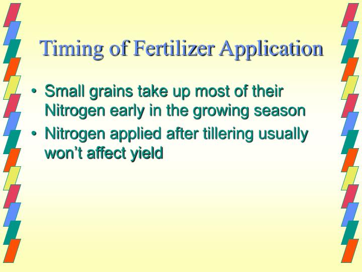 Timing of Fertilizer Application