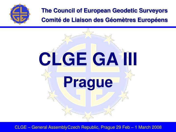 CLGE GA III