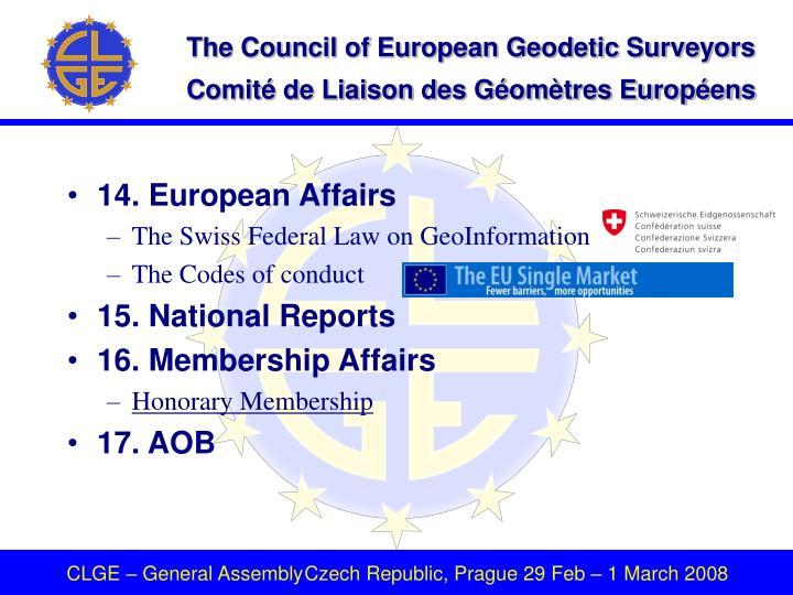 14. European Affairs