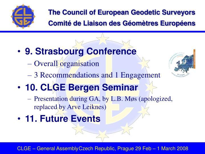 9. Strasbourg Conference