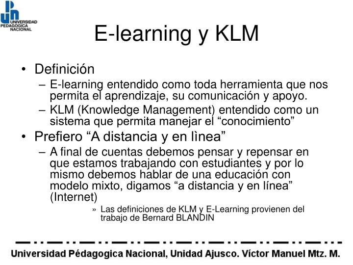 E-learning y KLM