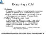 e learning y klm