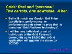 grids real and personal two carrots one downside a bet