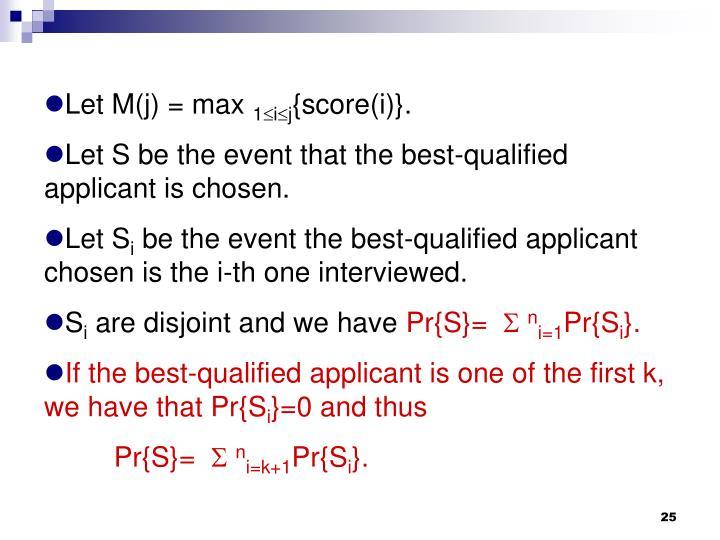 Let M(j) = max