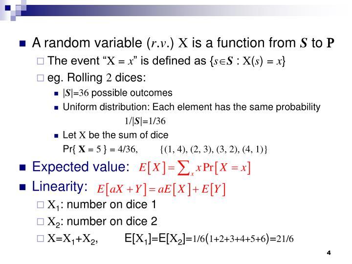 A random variable (
