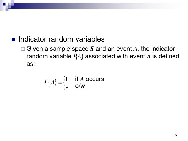 Indicator random variables