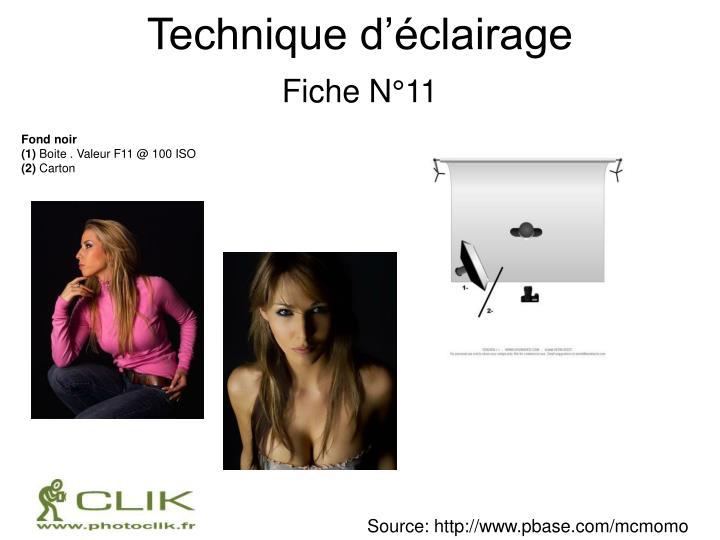 Technique d'éclairage