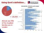 using govt s definition