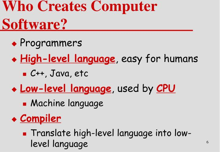 Who Creates Computer Software?