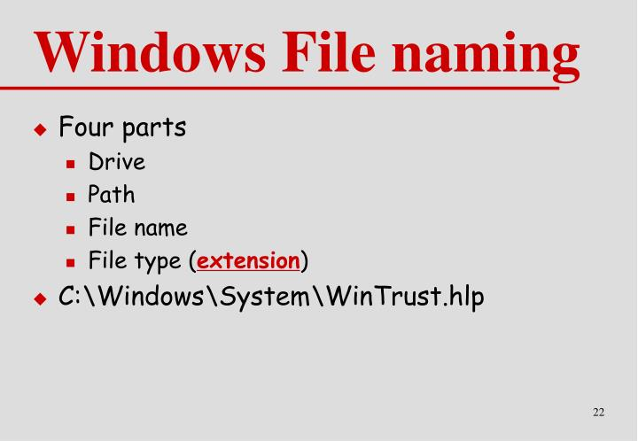 Windows File naming