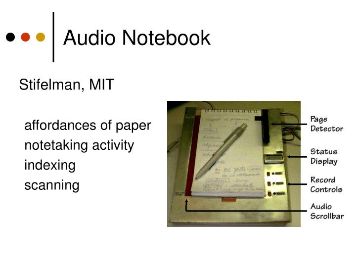 Audio Notebook