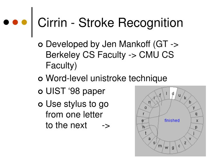 Cirrin - Stroke Recognition