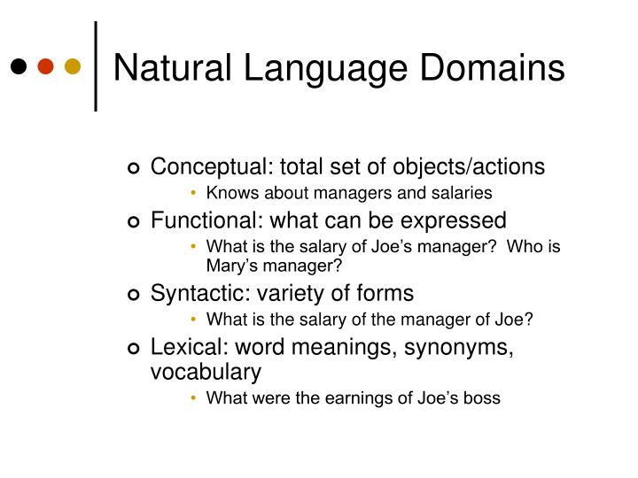 Natural Language Domains