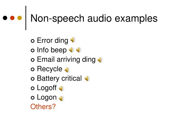 Non-speech audio examples