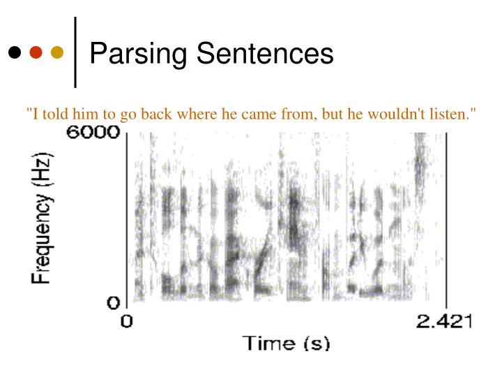 Parsing Sentences