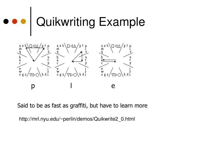 Quikwriting Example