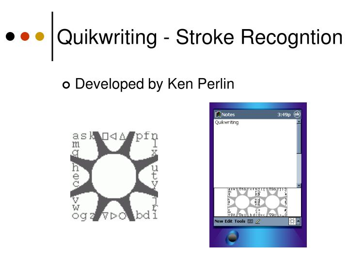 Quikwriting - Stroke Recogntion