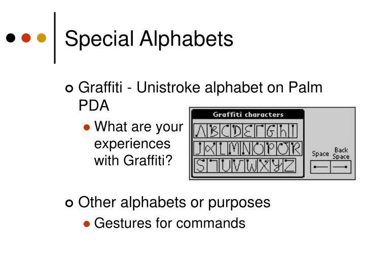 Special Alphabets