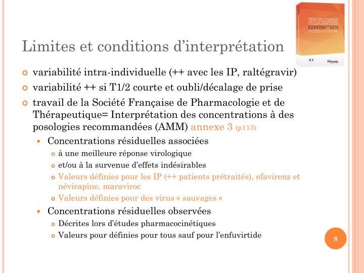Limites et conditions d'interprétation