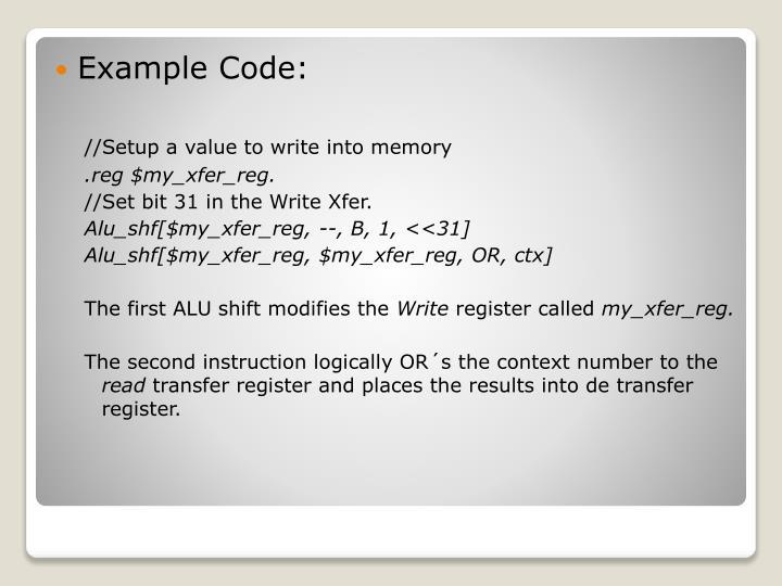 Example Code: