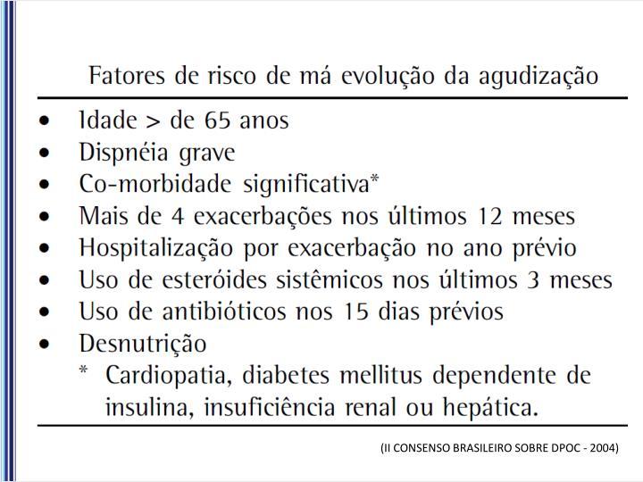 (II CONSENSO BRASILEIRO SOBRE DPOC - 2004)