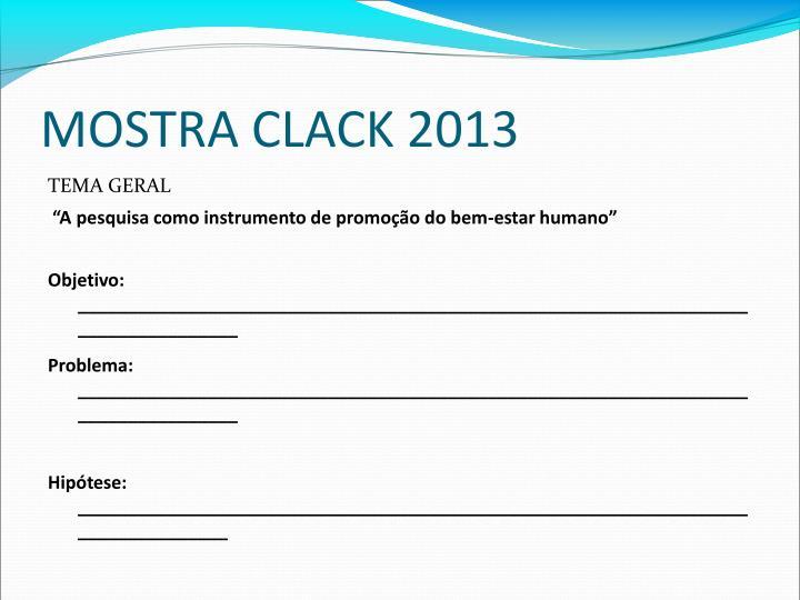 MOSTRA CLACK 2013
