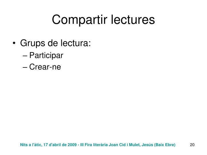 Compartir lectures