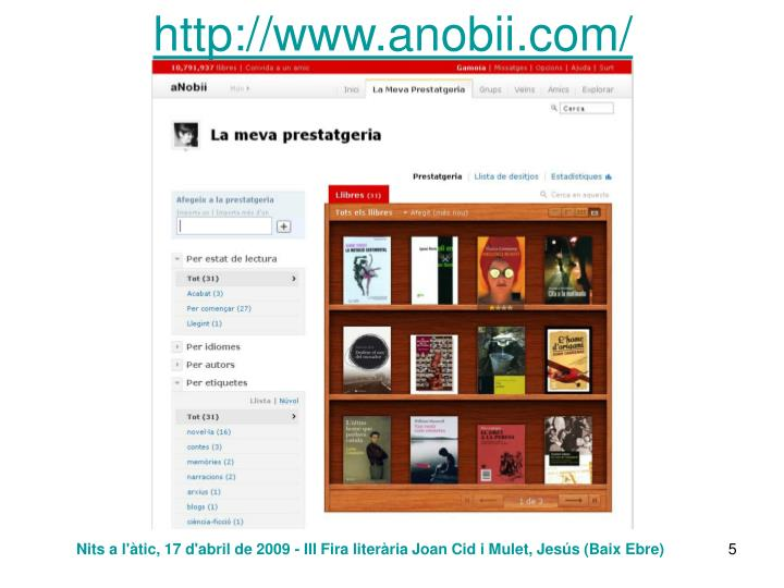 http://www.anobii.com/