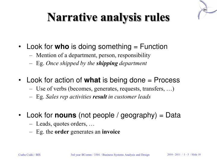 Narrative analysis r