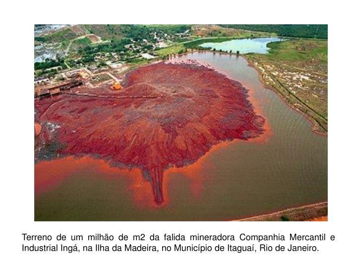 Terreno de um milhão de m2 da falida mineradora Companhia Mercantil e Industrial Ingá, na Ilha da Madeira, no Município de Itaguaí, Rio de Janeiro.