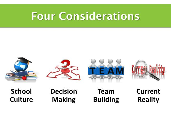 Four Considerations