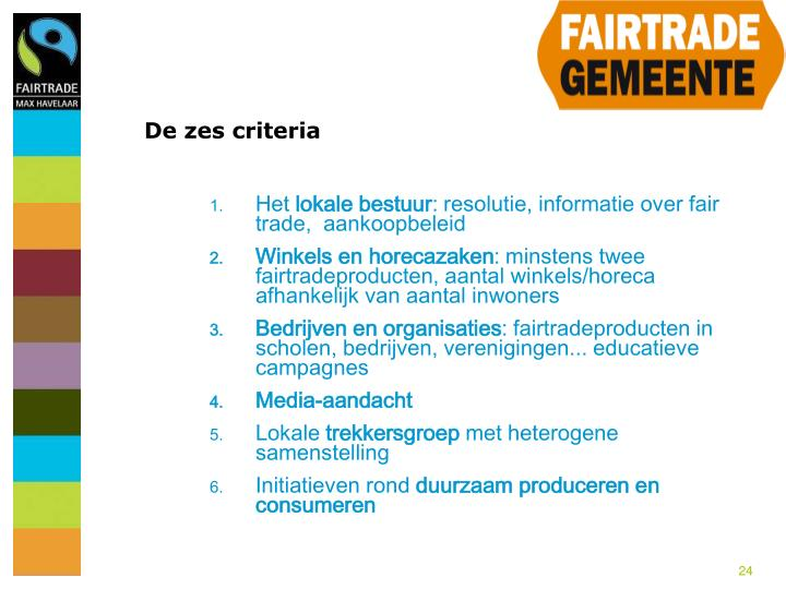 De zes criteria