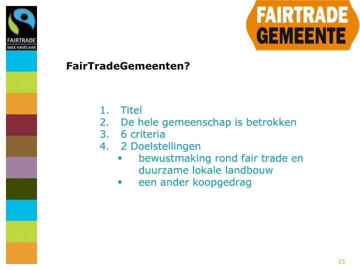 FairTradeGemeenten?