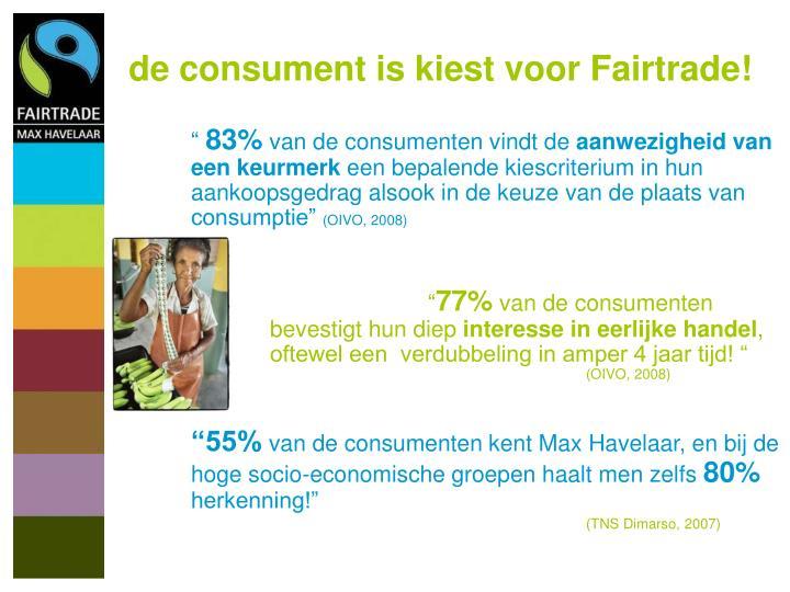 de consument is kiest voor Fairtrade!