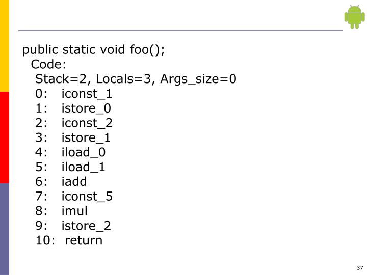 public static void foo();