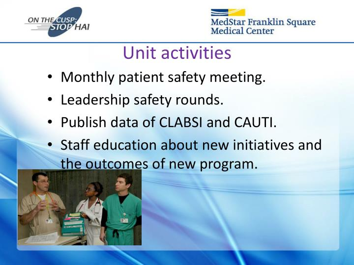 Unit activities