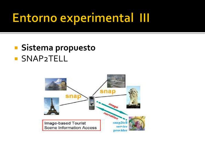 Entorno experimental